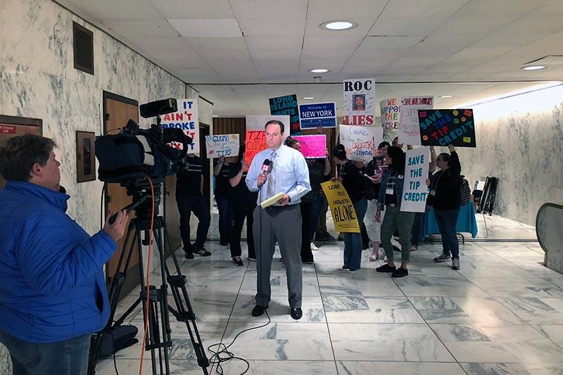 NYSRA news reporter by lobbyists