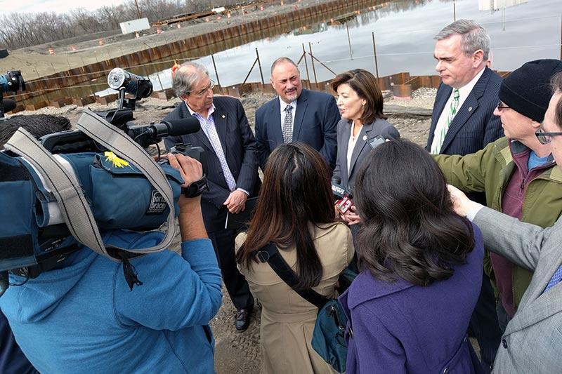 Legislatures speaking at the ground of Rivers Casino